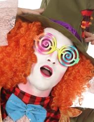 Gafas espirales multicolor adulto