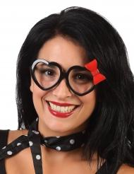 Gafas corazón y lazo adulto