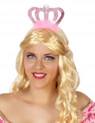 Diadema princesa rosa adulto