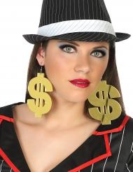 Pendientes gigantes dolar adulto