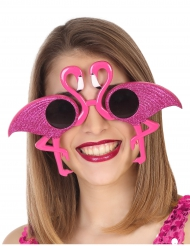 Gafas flamenco rosado con lentejuelas adulto