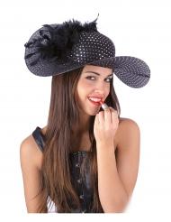 Sombrero elegante negro mujer