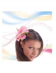 Flor rosa para cabello adulto