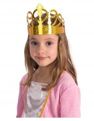 6 Coronas de papel dorado