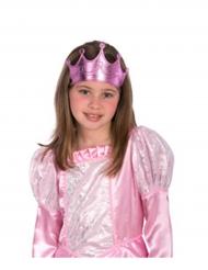Corona de princesa rosa niña
