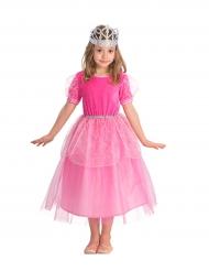Disfraz princesa rosa con brillantinas para niña