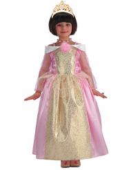 Disfraz princesa rosa y dorada niña