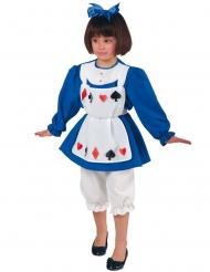 Disfraz princesa de cartas niña