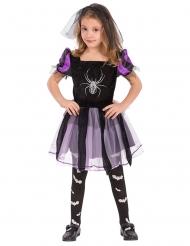 Disfraz bruja con araña niña