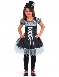 Disfraz bruja Día de los muertos niña