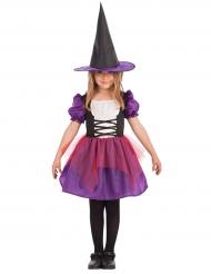 Disfraz bruja violeta niña