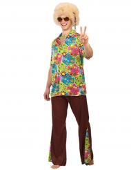 Disfraz hippie flores hombre