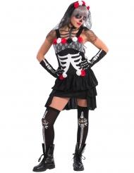Disfraz esqueleto sexy mujer Día de los muertos