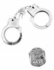 Kit de policía placa y esposas adulto y niño