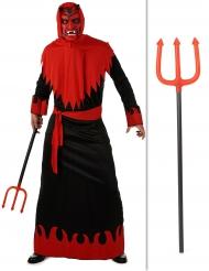 Kit disfraz diablo con tridente Halloween