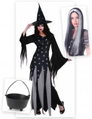 Kit disfraz de bruja Halloween