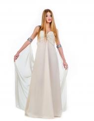 Disfraz vestido de princesa blanco adulto