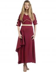 Disfraz romana rojo mujer