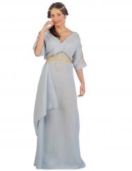 Disfraz princesa romana azul mujer
