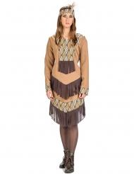 Disfraz indio con hojas mujer