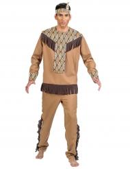 Disfraz indio con hojas hombre
