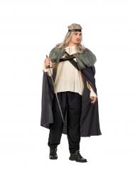 Capa guerrero gris hombre