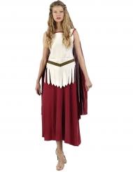 Disfraz gladiadora romana mujer blanco y rojo