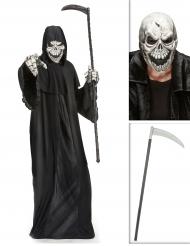 Kit disfraz segador con guadaña y máscara Halloween