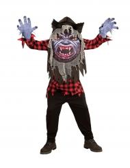 Disfraz hombre lobo cabeza grande adolescente Halloween