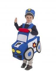Disfraz coche de policía niño