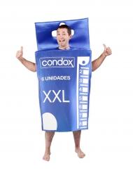 Disfraz caja de preservativos adulto