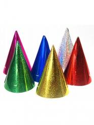 20 Sombreros de fiesta colores holográficos