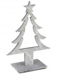 Decoración de Navidad árbol de Navidad de madera gris