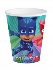 8 Vasos de cartón azul PJ Masks™ 25 cl