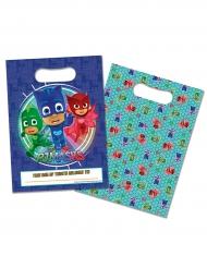 8 Bolsas de regalos azules PJ Masks™ 16.5 x 23 cm