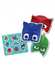 Kit 6 máscaras y pegatinas PJ Masks™ niño