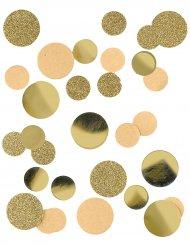 Confetis de papel kraft y purpurina dorados 30 g