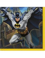 16 Servilletas pequeñas de papel Batman™ 25 x 25 cm
