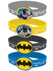 4 brazaletes elásticos Batman