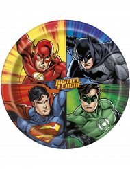 8 Platos de carton Justice League™ 23 cm