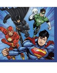 16 Servilletas pequeñas de papel Justice League™ 25 x 25 cm