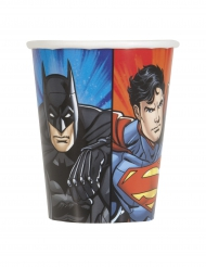 8 Vasos de cartón Justice League™ 25 cl