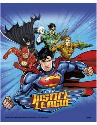 8 Bolsas de fiesta Liga de la Justicia™ 18 x 23 cm