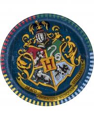 8 Platos pequeños de cartón Harry Potter™ 18 cm