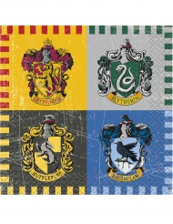 16 servilletas de papel pequeñas Harry Potter™ 25 x 25 cm
