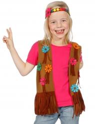 Chaleco y cinta hippie floreada niña