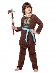 Disfraz indio con peto de colores niño