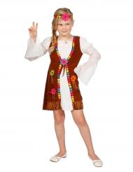 Disfraz miss hippie blanca niña