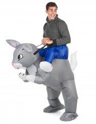 Disfraz conejo inflable adulto