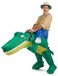 Disfraz cocodrilo inflable adulto